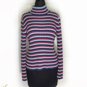 Tommy Hilfiger Striped Turtle Neck Sweater